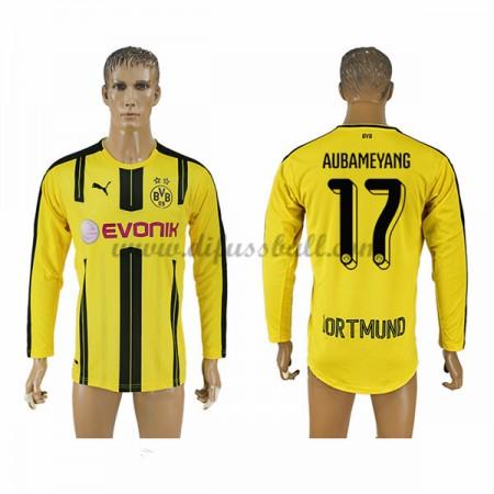 Neues BVB Borussia Dortmund 2016-17 Fussball Trikot Aubameyang 17 Langarm Heimtrikot Shop