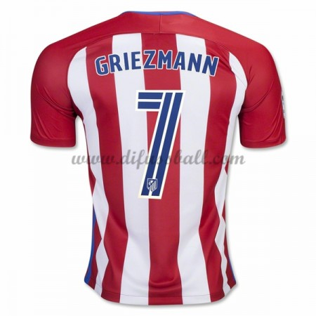 Neues Atletico Madrid 2016-17 Fussball Trikot Griezmann 7 Kurzarm Heimtrikot Shop