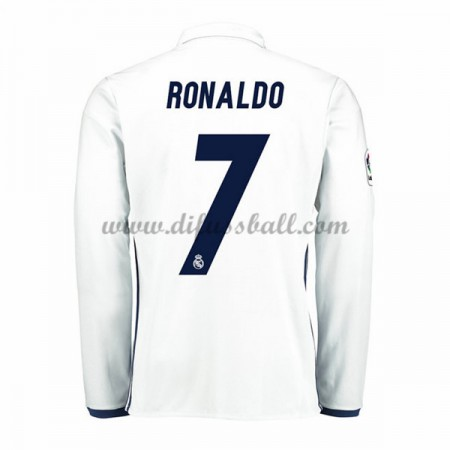 Neues Real Madrid 2016-17 Fussball Trikot Ronaldo 7 Langarm Heimtrikot Shop