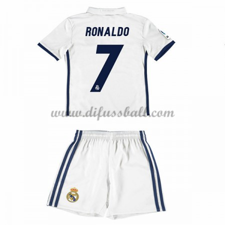 kindertrikot Real Madrid 2016-17 Ronaldo 7 Kurzarm Heim Fußball Trikotsatz Kinder Günstig