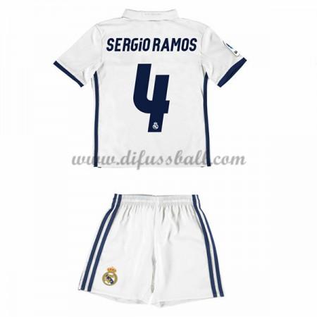 kindertrikot Real Madrid 2016-17 Sergio Ramos 4 Kurzarm Heim Fußball Trikotsatz Kinder Günstig