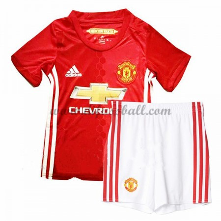 kindertrikot Manchester United 2016-17 Kurzarm Heim Fußball Trikotsatz Kinder Günstig