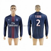 Neues Paris Saint Germain Psg 2016-17 Fussball Trikot T. Silva 2 Langarm Heimtrikot Shop..