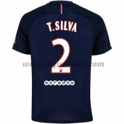 Neues Paris Saint Germain Psg 2016-17 Fussball Trikot T. Silva 2 Kurzarm Heimtrikot Shop..