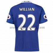 Neues Chelsea 2016-17 Fussball Trikot Willian 22 Kurzarm Heimtrikot Shop..