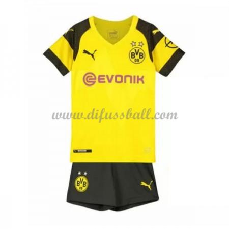 BVB Borussia Dortmund Fußballtrikots Kinder 2018-19 Heim Trikotsatz Kurzarm