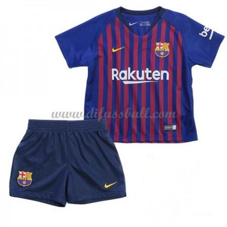 Barcelona Fußballtrikots Kinder 2018-19 Heim Trikotsatz Kurzarm