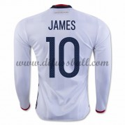 Nationaltrikot Kolumbien 2016 James Rodriguez 10 Langarm Heim Fußballtrikots..