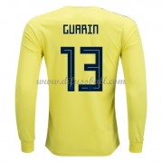 Kolumbien Nationaltrikot 2018 Freddy Guarin 13 Heim Fußballtrikots Langarm..