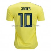 Kolumbien Nationaltrikot 2018 James Rodriguez 10 Heim Fußballtrikots Kurzarm..
