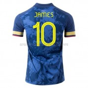 Kolumbien Nationaltrikot 2021 James Rodriguez 10 Auswärts Fußballtrikots Kurzarm..