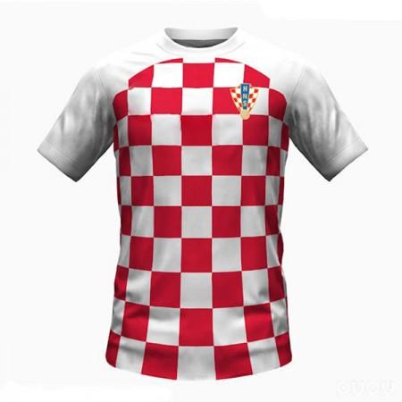 Günstige Fußballtrikots Kroatien Trikot nationalmannschaft WM 2018 Heimtrikot Kurzarm
