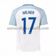 Nationaltrikot England 2016 James Milner 17 Kurzarm Heim Fußballtrikots..