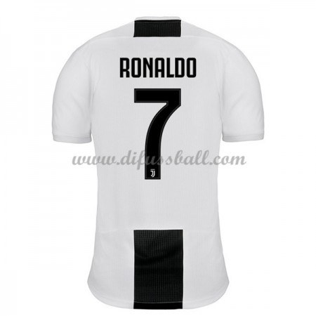 Fussballtrikots Günstig Juventus 2018-19 Cristiano Ronaldo 7 Heimtrikot Kurzarm