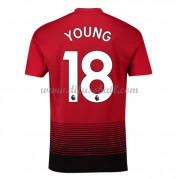 Fussballtrikots Günstig Manchester United 2018-19 Ashley Young 18 Heimtrikot Kurzarm..