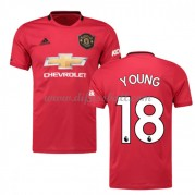 Günstige Manchester United Trikot 2019-20 Ashley Young 18 Heim Fußballtrikots Kurzarm..