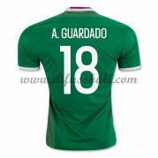 Nationaltrikot Mexiko 2016 Andres Guardado 18 Kurzarm Heim Fußballtrikots..