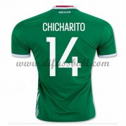 Nationaltrikot Mexiko 2016 Chicharito 14 Kurzarm Heim Fußballtrikots..