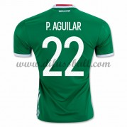 Nationaltrikot Mexiko 2016 Paul Aguilar 22 Kurzarm Heim Fußballtrikots..