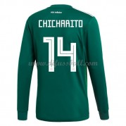 Mexiko Nationaltrikot 2018 Chicharito 14 Heim Fußballtrikots Langarm..