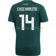 Mexiko Nationaltrikot 2018 Chicharito 14 Heim Fußballtrikots Kurzarm..