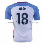 Nationaltrikot USA 2016 Bobby Wood 18 Kurzarm Heim Fußballtrikots..