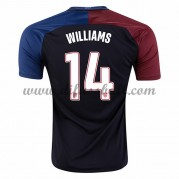 Nationaltrikot USA 2016 Danny Williams 14 Kurzarm Auswärts Fußballtrikots..