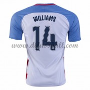 Nationaltrikot USA 2016 Danny Williams 14 Kurzarm Heim Fußballtrikots..