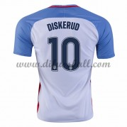 Nationaltrikot USA 2016 Mix Diskerud 10 Kurzarm Heim Fußballtrikots..