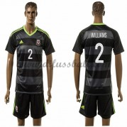 Nationaltrikot Wales 2016 Williams 2 Kurzarm Auswärts Fußballtrikots..