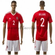 Nationaltrikot Wales 2016 Williams 2 Kurzarm Heim Fußballtrikots..