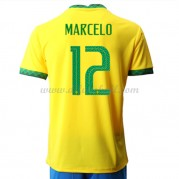Brasilien Nationaltrikot 2021 Marcelo Junior 12 Heim Fußballtrikots Kurzarm..