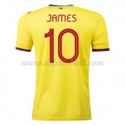 Kolumbien Nationaltrikot 2021 James Rodriguez 10 Heim Fußballtrikots Kurzarm..